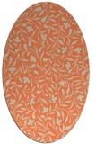 rug #939133   oval orange damask rug