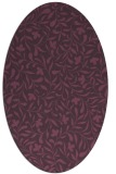 rug #939157 | oval purple natural rug