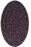 rug #939165 | oval purple damask rug