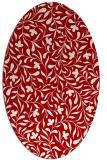 rug #939173 | oval red rug