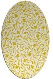 rug #939209 | oval white damask rug