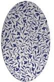 rug #939213 | oval white damask rug