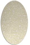 rug #939233   oval yellow natural rug