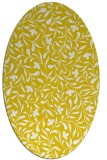 rug #939241 | oval yellow rug