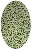 rug #939249   oval yellow damask rug