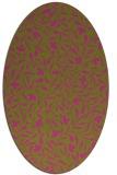 rug #939261 | oval light-green rug