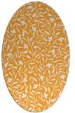 rug #939281 | oval light-orange damask rug