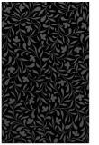 rug #939293    black damask rug