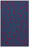 rug #939409    blue-green damask rug