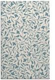 rug #939581    blue-green damask rug