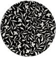 rug #939649 | round black damask rug