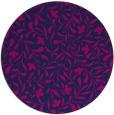 rug #939681   round blue damask rug