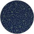 rug #939685 | round blue damask rug