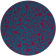 rug #939769 | round blue-green damask rug