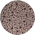 rug #939805 | round pink damask rug