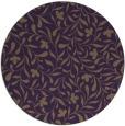 rug #939885   round purple damask rug