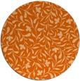 rug #939913 | round red-orange damask rug