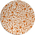 rug #939921 | round red-orange damask rug