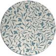 rug #939941 | round blue-green damask rug