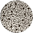 rug #939957 | round brown damask rug