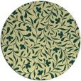 rug #939969 | round yellow damask rug