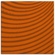 rug #942437 | square red-orange circles rug