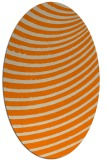 rug #942525 | oval orange circles rug