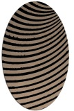 rug #942537 | oval black retro rug