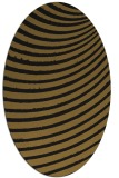 rug #942545 | oval black retro rug