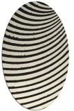 rug #942549 | oval black stripes rug