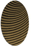 rug #942553 | oval brown graphic rug