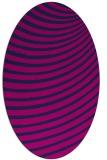 rug #942561 | oval pink graphic rug