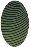 rug #942569 | oval green circles rug