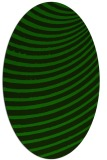rug #942585 | oval green circles rug