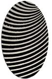 rug #942589 | oval blue-green circles rug