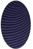 rug #942613 | oval blue-violet stripes rug