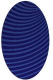 rug #942629 | oval blue-violet circles rug