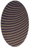 rug #942633 | oval blue-violet popular rug