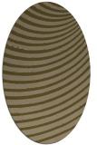 rug #942641 | oval mid-brown retro rug