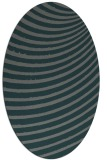 rug #942657 | oval blue-green abstract rug
