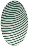 rug #942661 | oval green circles rug