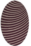 rug #942685   oval pink retro rug