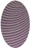 rug #942709 | oval purple retro rug