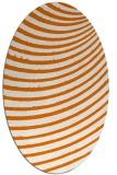 rug #942729 | oval orange circles rug