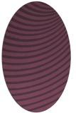 rug #942757 | oval purple graphic rug