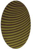 rug #942761 | oval green circles rug