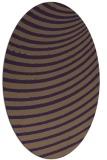 rug #942765 | oval purple circles rug