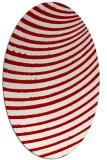 rug #942773 | oval red stripes rug