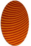rug #942777 | oval orange stripes rug