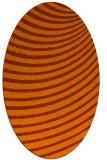 rug #942789 | oval red-orange circles rug